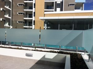 Frosted glass balustrade